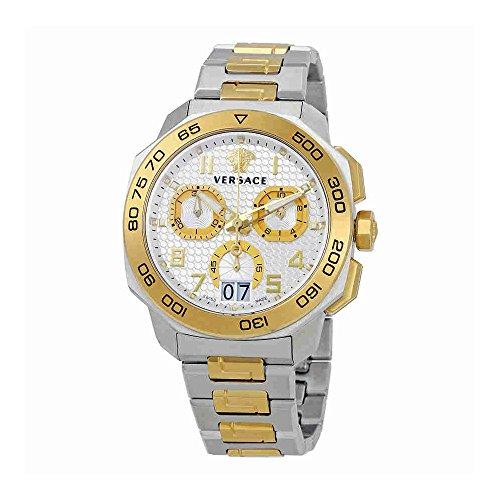 Versace Men's VQC030015 DYLOS CHRONO Analog Display Swiss Quartz Two Tone Watch