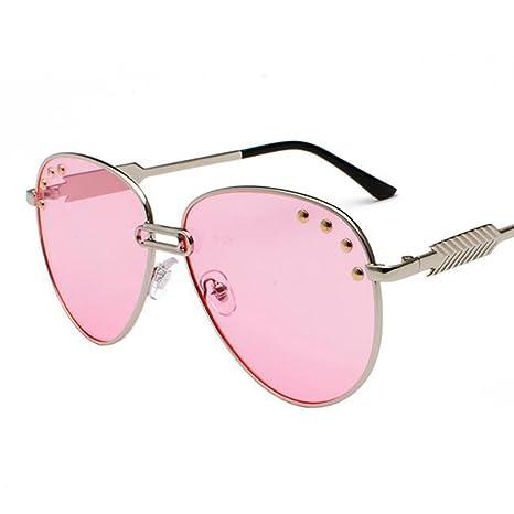 Gafas de sol unisex Redondo metal personalizado Moda Street ...
