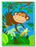 Stupell Industries The Kids Room It's A Jungle Out There Wall Plaque, Monkey