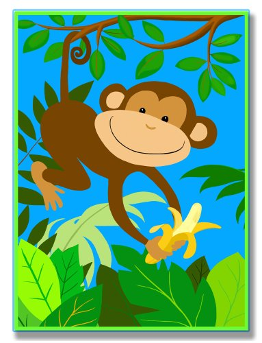 UPC 049182013040, The Kids Room by Stupell It's a Jungle Out There Monkey Rectangle Wall Plaque
