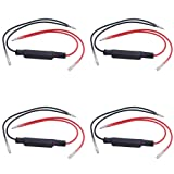 Younar 10W 10Ω LED Signal Steering Lamp Resistance Decoder for Motorcycle,Pack of 4