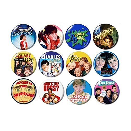 80's TV Buttons (set #3)