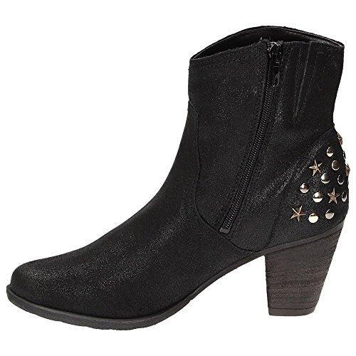Tamaris1-25708-31 - botas estilo motero Mujer Negro - negro