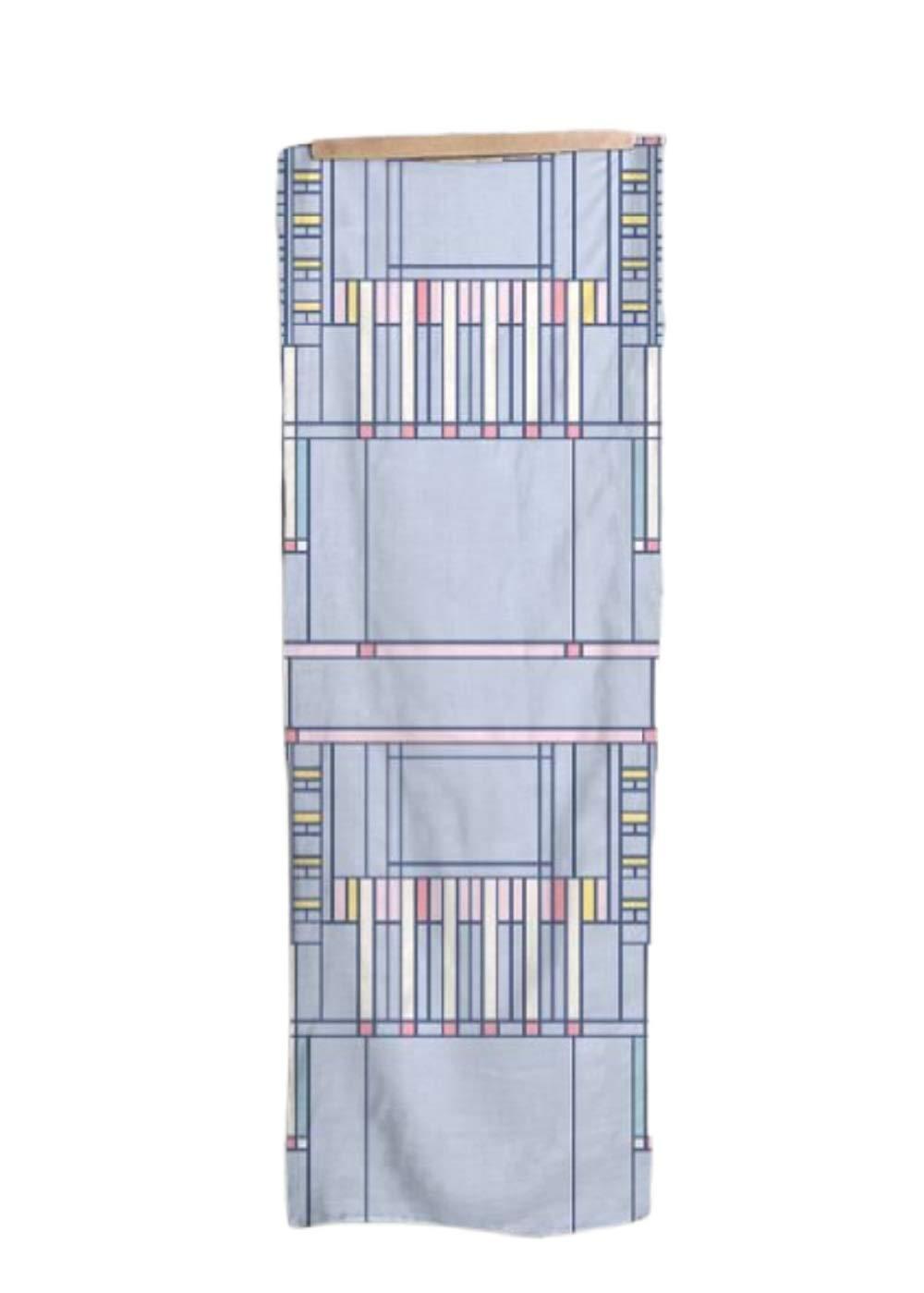 VIDA Powder Blue Modal Scarf (1955 Textile Design) 28'' × 78'' | Original Artwork by Frank Lloyd Wright