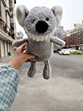 Dalino Babys Toys Smile Big Tooth Plush Toy Baby Appease Doll Exposed Tooth Doll (Grey Koala)