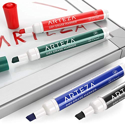 ARTEZA Dry Erase Markers, Bulk Pack of 52 (with Chisel Tip), 4 Assorted Colors with Low-Odor Ink, Whiteboard Pens is Perfect for School, Office, or Home by ARTEZA (Image #2)