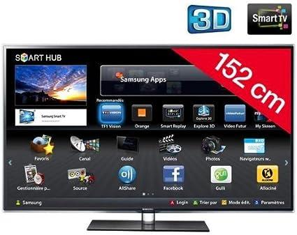 Samsung televisor LED 3D Smart TV UE60D6500 + 3 años de garantía: Amazon.es: Electrónica