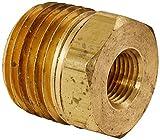 Merit Brass NLBS114-0802 Lead Free Pipe Fitting, Hex Bushing, 1/2'' NPT Male x 1/8'' NPT Female (Pack of 25)