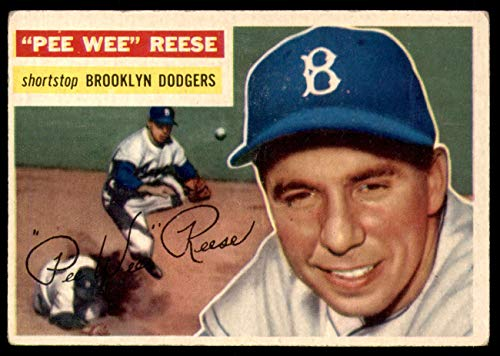 1956 Topps # 260 Pee Wee Reese Brooklyn Dodgers (Baseball Card) Dean's Cards 5 - EX - 1956 Topps Baseball