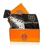 Marino Orlandi Italian Designer Snakeskin Embossed Black Quilted Leather Bucket Sling Bag