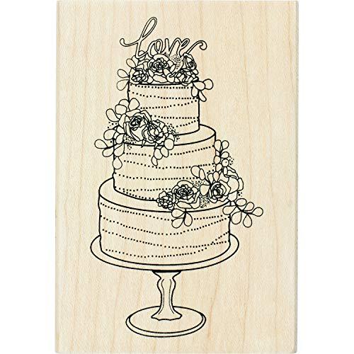 Inkadinkado Wedding Cake Mounted Rubber Stamp for Wedding Card Making and Scrapbooking, 2.75'' x 4'' x 1''
