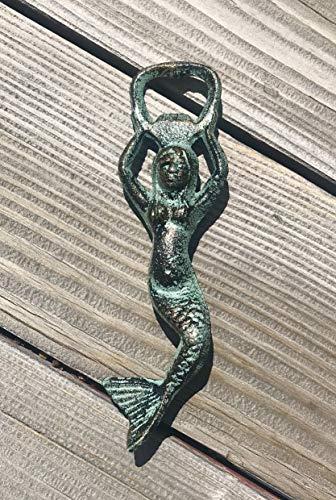Unique Nautical Bar Decor Copper Mermaid Beer Bottle Opener Stocking Stuffer Best Friend Barware Gift