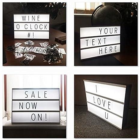 Nuevo A4 Cinematic 10 blanco LED letra caja cartel mensajes ...