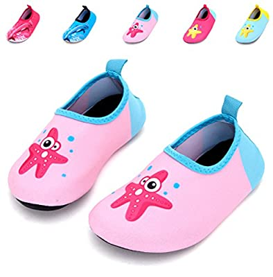 Giotto Barefoot Swim Water Shoes Quick Dry Non-Slip for Kids Women Men-Pink-22-23b