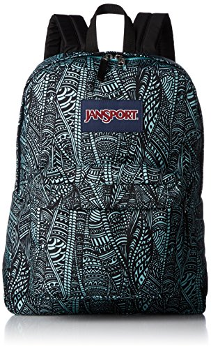 JanSport Superbreak Backpack - Aqua Dash Scribbled Ink