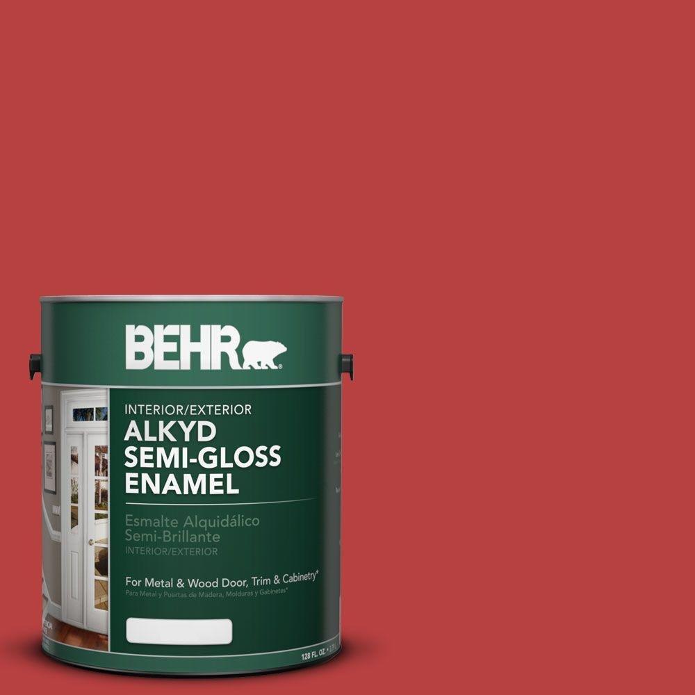 1-gal. #OSHA 5 Safety Red Semi-Gloss Enamel Alkyd Interior/Exterior Paint