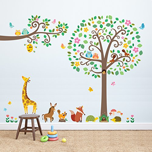 Decowall DML 1502P1512 Branches Animals Stickers product image