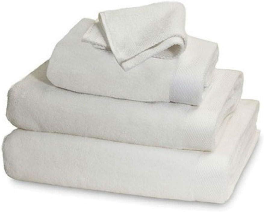 Set of 2 Garnier-Thiebaut Towels Luxury Plush Soft White Bath Sheet Towel 39 x 59
