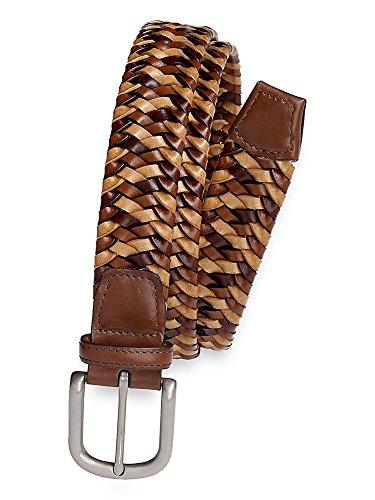 Paul Fredrick Men's Declan Woven Leather Belt Multi 44
