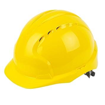 JSP EVOLite - Casco de seguridad con ranuras de ventilación, color amarillo: Amazon.es: Bricolaje y herramientas
