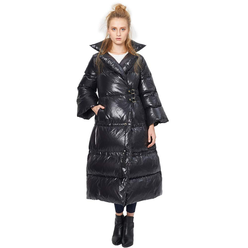 Women's Freestyle Shaped Down Puffer Jacket, Loose Thickening Winter Down Jacket,L
