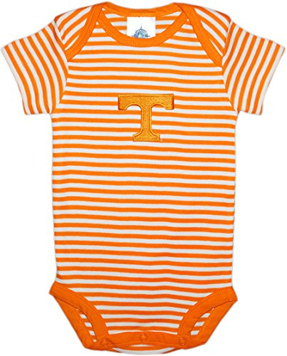 - Creative Knitwear University of Tennessee Volunteers Striped Baby Bodysuit