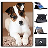 "Leather Case For Apple iPad 9.7"" 5th Generation (2017 Version) - Jack Russell Terrier Puppy"