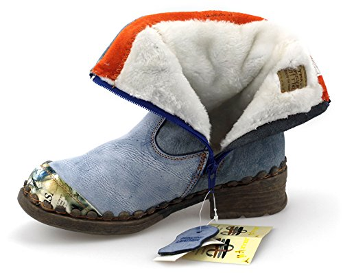 TMA 5050 Damenschuhe Winter Boots Stiefeletten Warmfutter Rot / Schattiert