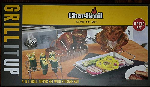 Char-Broil 4 in 1 Grill Topper Set With Topper Storage Bag