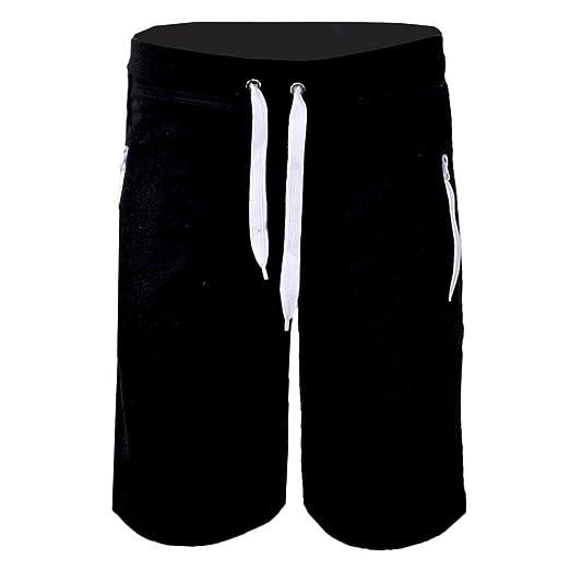 234ef571f37 RAISINGTOP Fashion Men Shorts with Zipper Pockets Casual Beach Work Trouser  Pants Drawstring Capri Sweats Elastic