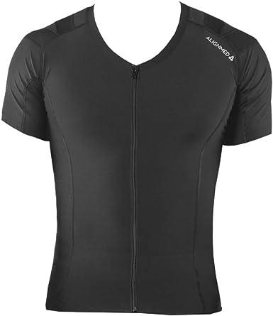 Men/'s AlignMed Posture Correcting Shirt 2.0 Neuroband Technology White Medium