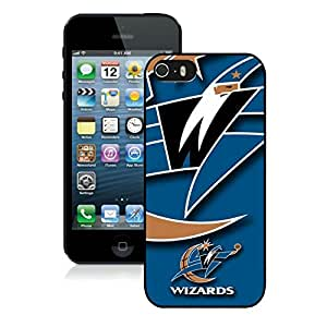 New Custom Design Cover Case For iPhone 5s Generation Washington Wizards 1 Black Phone Case