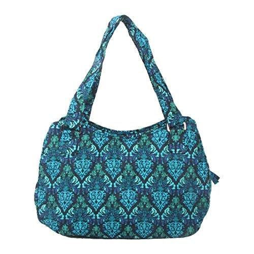 Quilted Cotton Handle Bags Shoulder Bag (Blue ()