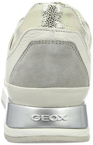 Femme Weiss Lt Basses Off Platin Gris D Geox White B Shahira Sneakers Greyc0856 wqPX6gA0