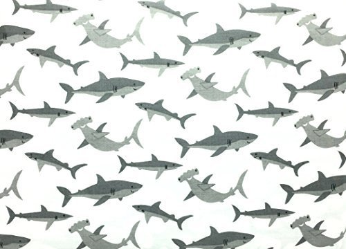 Authentic Kids Happy Sharks All Cotton Full Size Sheet Set