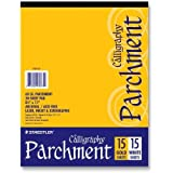 Staedtler- Inc. STD945P811P Calligraphy Parchment Paper- 60lb- Letter- 15 Gold-15 White