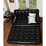 J GO 5 in 1 Sofa Cum Bed Leather Look Air Lounge - Air sofa