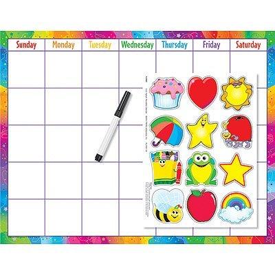 Trend Enterprises Reusable (Cling Accents) Wipe-Off Kit Monthly Calendar Grid (1 Piece), 17 x 22 by TREND ENTERPRISES INC.