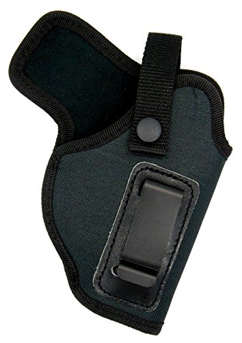 [Dual-Function OWB Belt Slide or Concealment IWB Clip-On Holster with Body Shield for SMITH & WESSON S&W M&P SHIELD 9 40 45] (Concealment Belt Slide Holster)