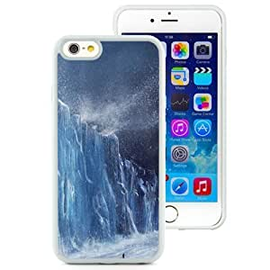 Fashionable and DIY Phone Case Design with Iceberg Wall Snow Storm iPhone 6 4.7inch TPU case Wallpaper in White