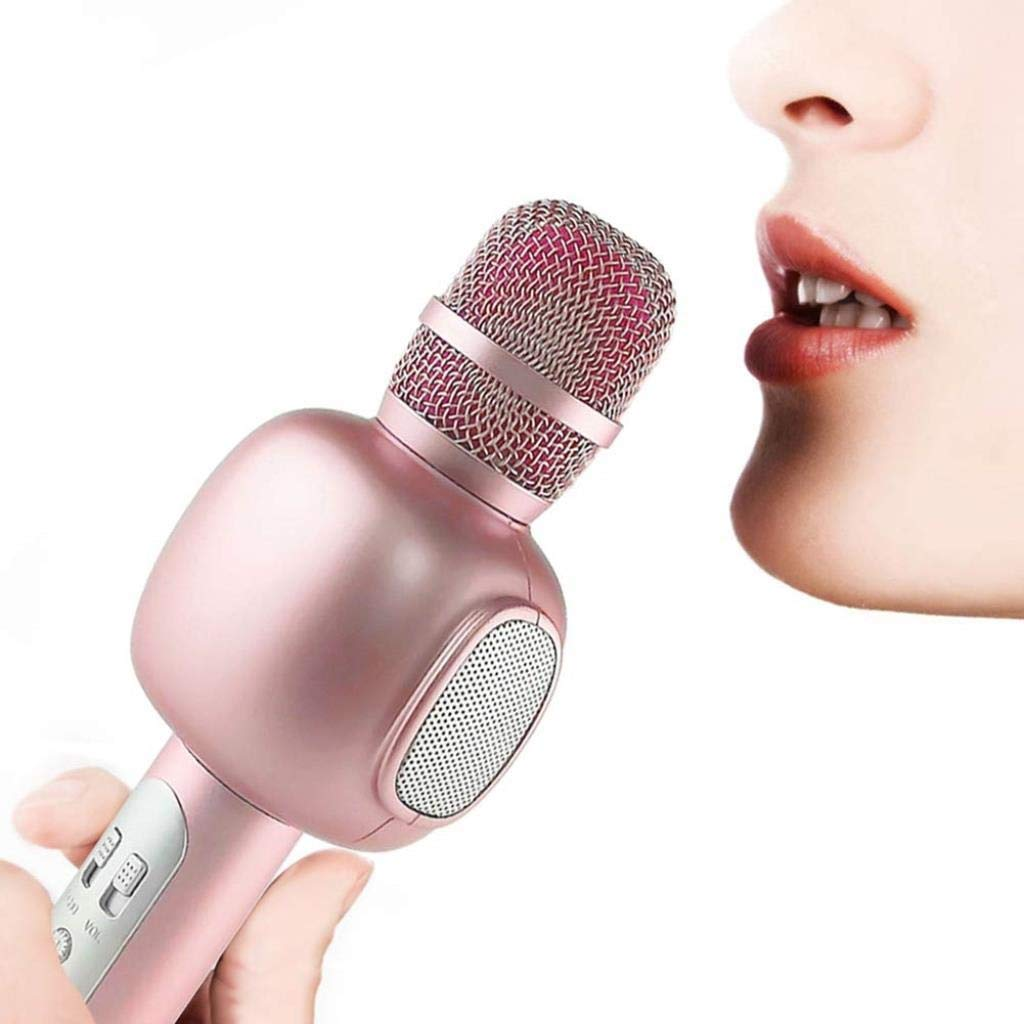 Rsiosle Wireless Bluetooth Karaoke Microphone Mik Speaker Music Player Phone Microphones Portable KTV Mic Compatible with Android and iOS ( Color : Pink ) by Rsiosle (Image #7)