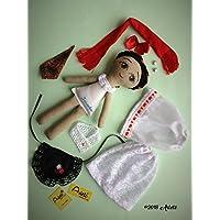 Muñeca de trapo tipo Jarocha diseñada, elaborada y pintada a mano.