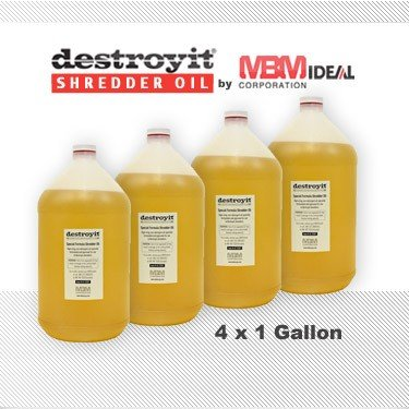 MBM Destroyit Paper Shredder Oil (4 x 1 gallon) - CED21G by Destroyit by MBM, MBM