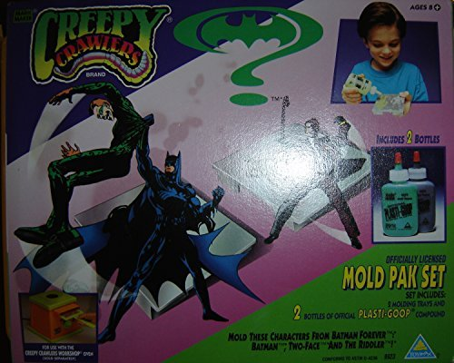 - Magic Maker Creepy Crawlers Mold Pak Set, Batman Forever Characters: Two-Face and The Riddler