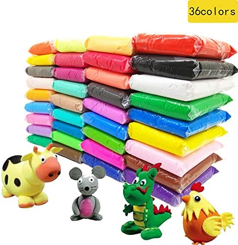 36 Colors Magic Clay Nature Color DIY Air Dry ClayTools as Best Present for Children Toy for Kids