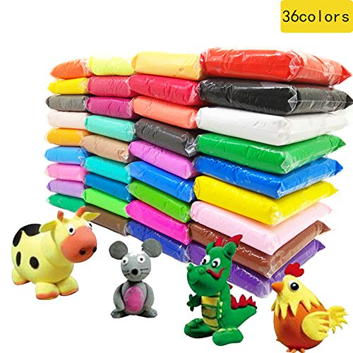 36 Colors Magic Clay Nature Color DIY Air Dry Clay with Tools as Best Present for Children Toy for Kids