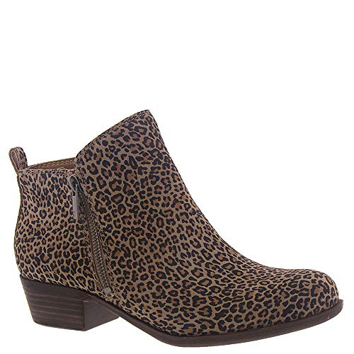 Lucky Brand Women's Basel Ankle Bootie, Eyelash, 10 - Platform Inch Stacked 4.5