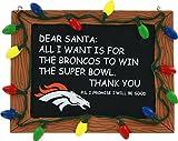 NFL Denver Broncos Resin Chalkboard Sign Ornament, Blue, One Size