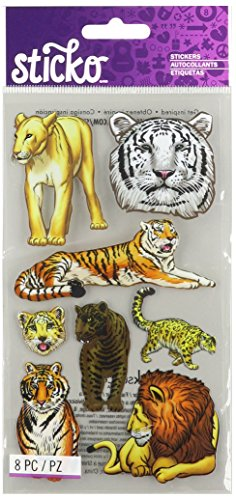 Sticko Big Cats Stickers (Tiger Stickers)