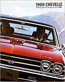 BEAUTIFUL 1969 CHEVY CHEVELLE DEALERSHIP SALES BROCHURE - Covers Chevelle SS 396 model, Super Sport, Concours, Malibu SS. 69 CHEVROLET